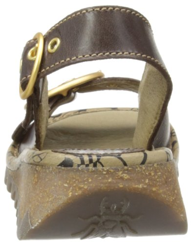 Fly London Tram, Damen Schnürhalbschuhe Braun (Beige/Black/Brown)