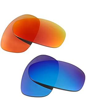 Hkuco Plus Mens Replacement Lenses For Oakley Juliet Sunglasses Red/Blue Polarized