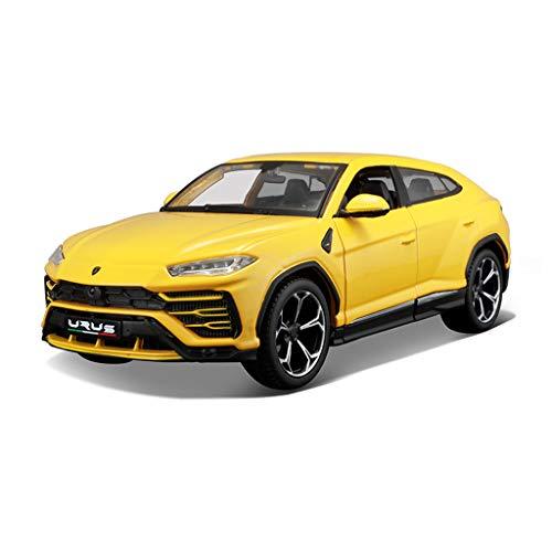 IVNGRI-Auto Model 1:24 Simulation Diecast Model Toy Car, Automodellbauprojekte Für Erwachsene Und Kinder (Color : Yellow) (Model Nissan Auto Kit)