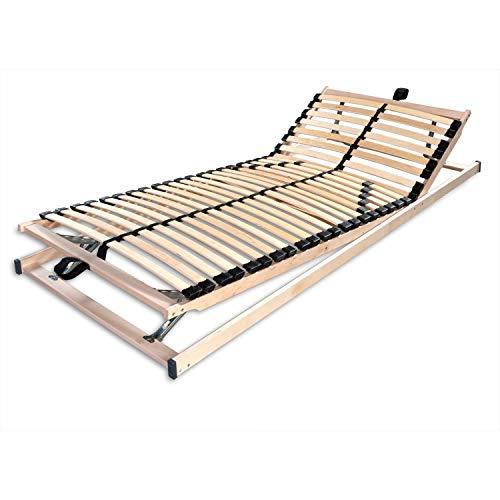Betten-ABC Max1 K+F, Lattenrost, fertig montiert mit Kopf- und Fußteilverstellung, Holm durchgehend Größe 140x220