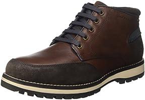 Lumberjack Roman, Sneaker a Collo Alto Uomo, Marrone (Dk Brown), 42 EU