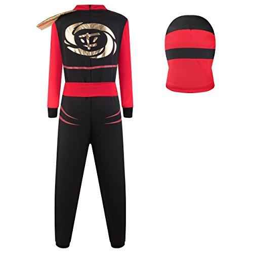 Imagen de katara  disfraz de ninjago kai máscara de ninja guerrero  ideal para carnaval o cumpleaños  para niños rojo talla m 6 8 años 1771  alternativa