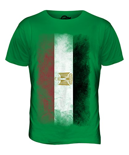 CandyMix Ägypten Verblichen Flagge Herren T Shirt Grün