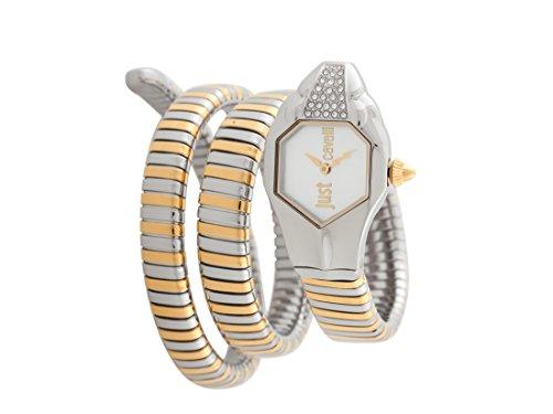 Just Cavalli Damen Analog-Digital Quarz Uhr mit Edelstahl Armband JC1L022M0045
