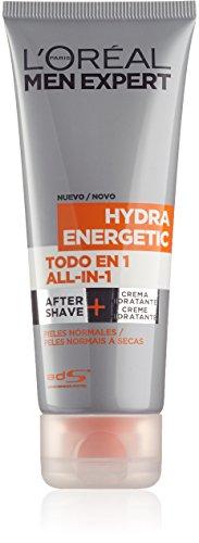 L'Oréal Men Expert – Hydra Energetic Todo en 1 – After shave + Crema hidratante para pieles normales – 75 ml