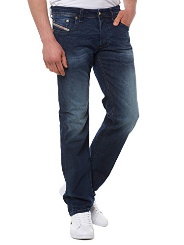 Diesel Herren Straight Jeans Larkee Pantaloni Denim