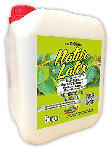 Flüssiglatex 5 Liter NATUR Latex im Kanister, naturfarben, Naturgummi flüssig, Latexmilch, Gummimilch, Sockenstopp, Halloween, Masken, Wunden, Narben