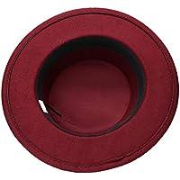LQ-LIMAO Sombrero de Copa, - Sombrero De Lana Vintage, Cúpula De Doble Ancla De Nylon con Sombrero De Copa 57-58 Cm (Color : Vino Rojo, tamaño : 57-58cm)