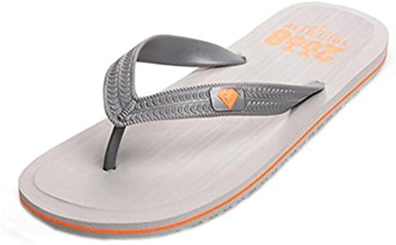 SHANGXIAN Hombres Chancletas De Playa Verano Casa Zapatillas CóModo Zapato De Ducha Sandalias , gray , 43/44