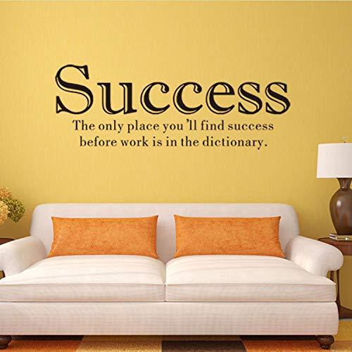 Libby-nice successo adesivo da parete vinile adesivo ufficio inspirational adesivo murale camera da letto adesivi motivazionali sul muro 57 * 20,5 cm