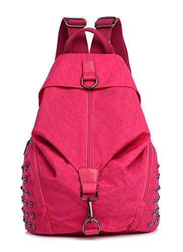 Longzibog Dual verstellbare Schultergurte und Hängeschlaufenband 2016 Neue Maedchen Rucksack Schulranzen Rosa