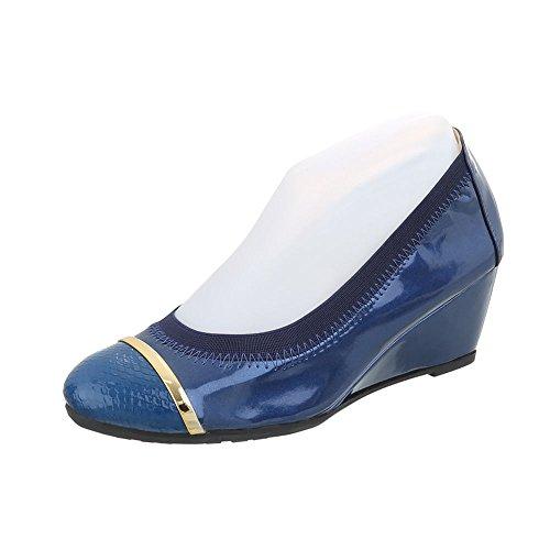 Pompe Con Zeppa Ital-design Scarpe Da Donna Pumps Con Zeppa Pumps Con Zeppa Blu