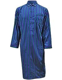 Chemise de nuit 100% coton à rayures - bleu / vert - homme