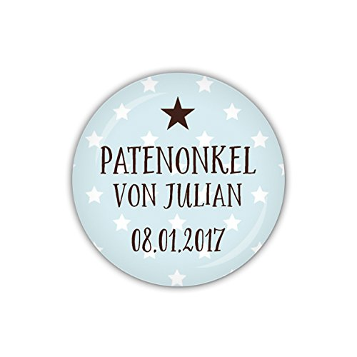 mm Ø KLEINER STERN blau, Patenonkel personalisiert (Art. PBU245) ()