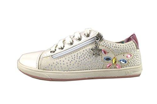 LAURA BIAGIOTTI sneakers bambina bianco tessuto pelle AH985 (31 EU)