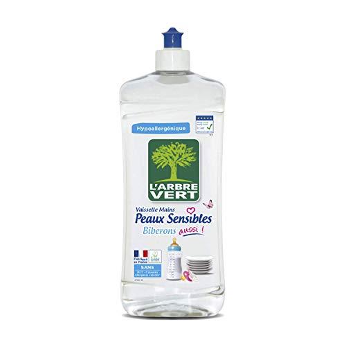 L'Arbre Vert Liquide Vaisselle mains Peaux Sensibles Biberons 750 ml