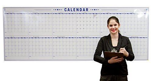 Dry Erase Kalender für Wand-36x 96Large Wall Kalender-blanko Jahr Kalender
