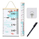 """Smlper Baby Growth Chart,Nursery Height Charts for Kids,Wall Hanging Ruler for Boys Girls,Removable Canvas Height Measurement Ruler for Nursery Room Decoration,79""""x7.9"""""""
