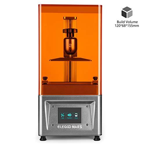 ELEGOO MARS UV LCD 3D Drucker mit 3,5 Zoll Smart Farbtouchscreen Offline-Drucken Druckbereich von 120 x 68 x 155 mm (Silbergrau) -