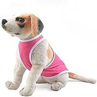 cotone pelo animale domestico molle accogliente maglione polsini elastici permeabilità all'aria cane griglia estate vestiti 2 colori 5 formati 3 pezzi , pink , l