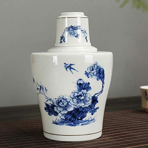 Knochen Jade Porzellan Wein Set Weißweinglas Hause Warme Wein Topf Hot Pot Chinesischen Kreativen Hälfte Ein Catty Gelb Weinkrug