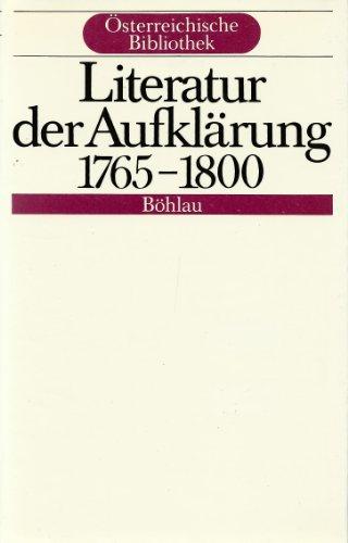 Literatur der Aufklärung. 1765-1800