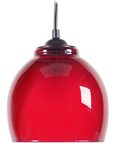 Tosel 11868 Suspension Signorina Verre 100 W E27 Rouge