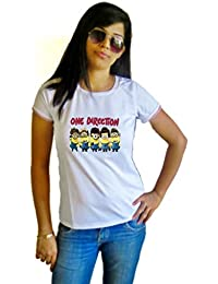 LetsFlaunt One Direction Minions T-shirt Girls White Dry-Fit Nw