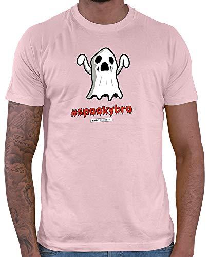 HARIZ  Herren T-Shirt Pixbros Spookybro Halloween Kostüm Horror Umhang Plus Geschenkkarte Rosa M (Ninja Rosa Halloween-kostüm)