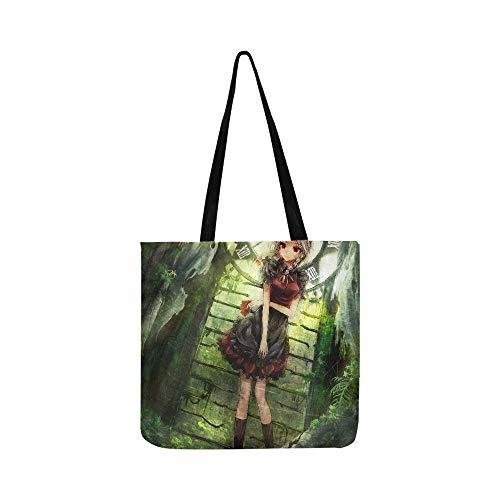 Izayoi Sakuya Touhou gezeichnet von Hourai No Hangents Canvas Tote Handtasche Schultertasche Crossbody Taschen Geldbörse für Damen und Herren Einkaufstasche - Chloe Hobo