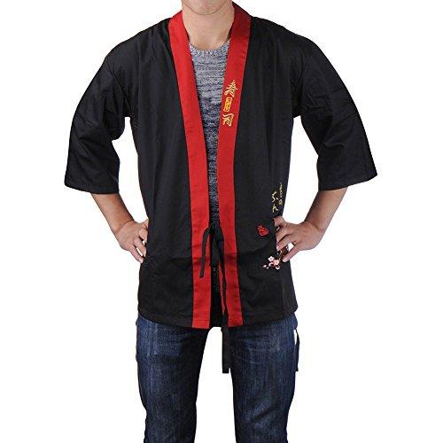Generic Bluee XXL: Hot oberen tragen Japan Küche Kleidung Restaurant Japanische Chef Kleidung Neuheit Schürzen upperwear Happi Kimono Cook Kostüme
