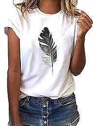 e7928f191 Luckycat Camisetas Mujer Manga Corta Camisetas Mujer Verano Blusa Mujer  Sport Tops Mujer Verano Camisetas Escote