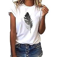 Luckycat Camisetas Mujer Manga Corta Camisetas Mujer Verano Blusa Mujer Sport Tops Mujer Verano Camisetas Escote