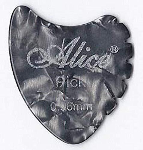 Confezione da 12 x Celluloide Plettri | Pinna di Squalo Pinne | Alice AP600A | per Acustica Elettrica Basso | Medio Pesante 0.96mm