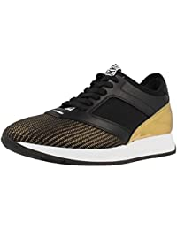 Zapatos Hombres Sneakers BIKKEMBERGS BKE108232 Mant 380 Leather Brushed Negro xIqAIWmb5