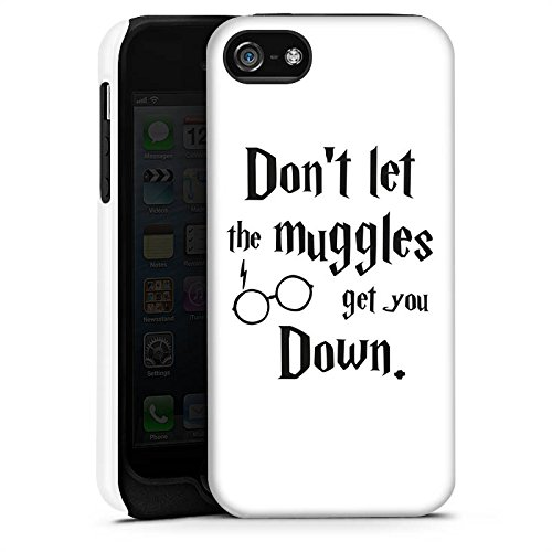 Apple iPhone X Silikon Hülle Case Schutzhülle Muggles Statement Harry Potter Tough Case matt