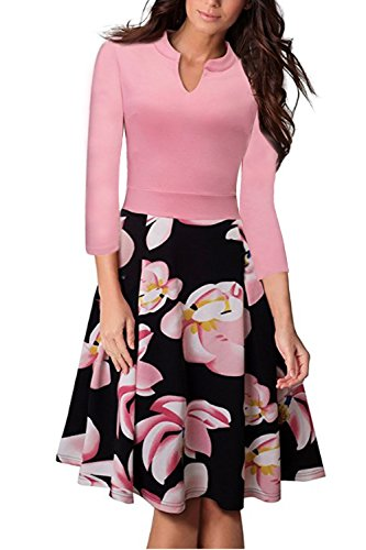 Misshow Damen Rockabilly Kleid Vintage Hochzeitskleider Für Damen Festkleid Swing Kleid
