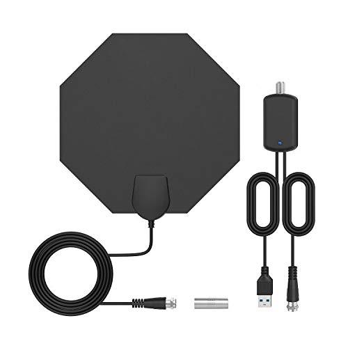 Bqeel TV Antenne DVBT Antenne HDTV-Verstärker Digitale HDTV-Antenne Indoor TV Antenne für DVB-T/DVB-T2/ unterstützt 4K/ HD /1080P/ freie Kanäle usw. Indoor-tv-antenne Hdtv