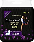 Dilency Sales Extra Care Sanitary Pads, XXL - Pack of 40