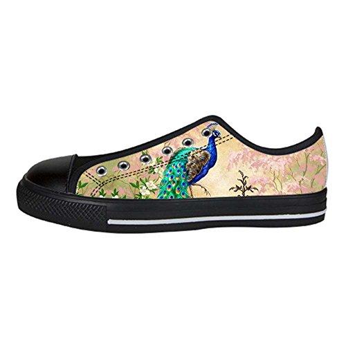 Dalliy sch?ne pfau Women's Canvas shoes Schuhe Lace-up High-top Footwear Sneakers (Raiders Schuhe Oakland Baby)