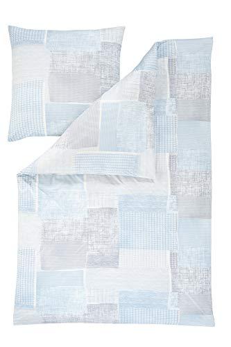 Estella Mako Interlock Jersey Bettwäsche 2 teilig Bettbezug 135 x 200 cm Kopfkissenbezug 80 x 80 cm Milos 6561001-640 Azur