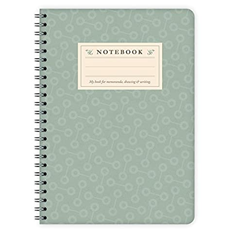 etmamu 413 A5 notepad and Turquoise Pattern, 60 sheets of blank notepaper
