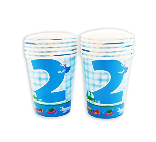 Party Anthem 2nd Birthday Blue Paper Cups (Pack of 24)