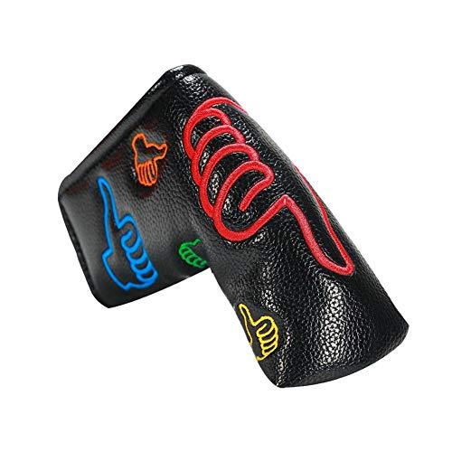 Putterhaube - Putter Schlägerkopfhüllen, Golf Putter Headcover, Magnet Straight Bar Wort L-Form Kopfschutz Semi-Circular Cap Daumen Headcover
