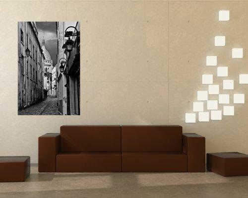 bilderdepot24-papier-peint-intiss-alley-montmartre-paris-france-noir-et-blanc-90x135-cm-pte-inclus-v