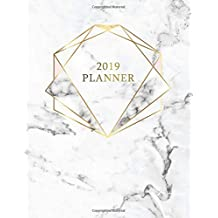 2019 Planner: Marble Gold Weekly Planner 2019 | Weekly Views with To-Do Lists, Funny Holidays & Inspirational Quotes | 2019 Organizer with Vision Board, Notes and Much More. (Girly Planners)