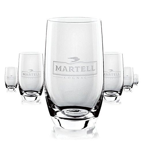 6-x-martell-cognac-glas-glser-konisch-selten-longdrink-gastro-bar-deko