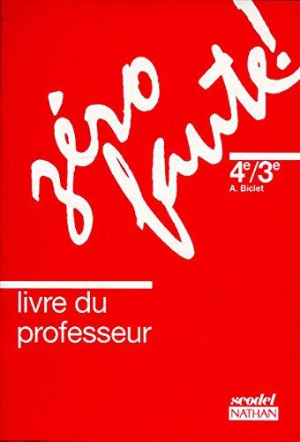 Zéro faute, niveau 2, professeur, édition 1992 par Biclet, Cauhepe