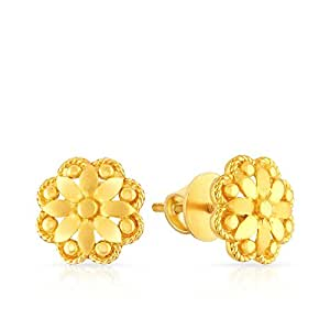 Malabar Gold and Diamonds 22k Yellow Gold Stud Earrings