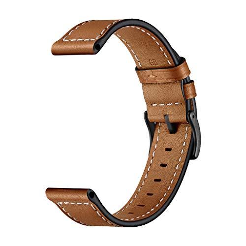 Newest!!!Stitch Pattern Armband für Huawei Watch GT Honor Watch Magic,Bloodfin Leder Uhrenarmbänder Lederarmband Einstellbare Edelstahl Schnalle Sportarmband,Muttertag (Braun)